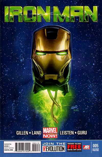 IRON MAN (2012) #5 - 2nd Print - Marvel Now! - New Bagged