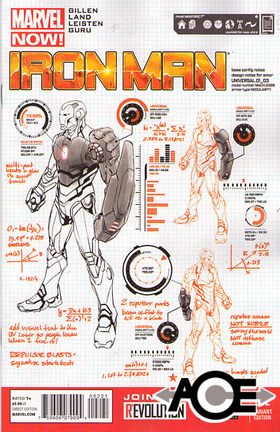 IRON MAN (2012) #2 - Marvel Now! - Design VARIANT COVER