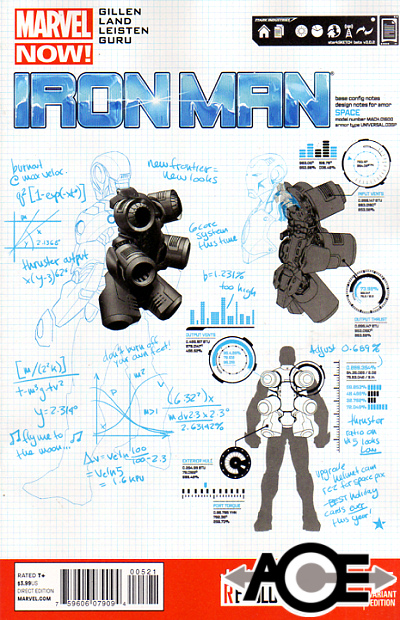 IRON MAN (2012) #5 - Marvel Now! - Carlo Pagulayan DESIGN Cover 1:25